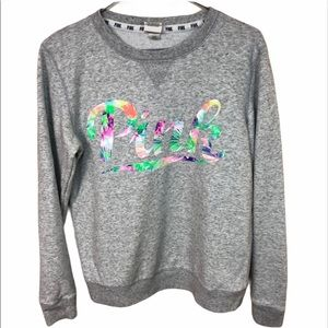 Pink Victoria's Secret Sweater.